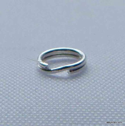 5 mm Sterling Silver split rings X 10